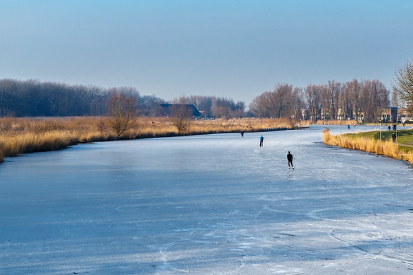 Vlaardingen; Vlaardingervaart; ijs; schaatsen; winter Martijn Blikkenhorst (www.blikkenhorst.nl)